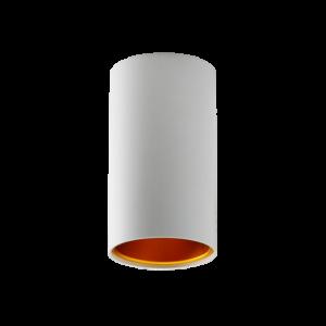 CHLOE GU10 IP20 tuba biała złota