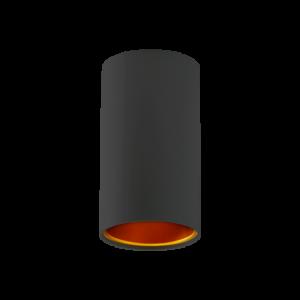 CHLOE GU10 IP20 tuba czarna złota